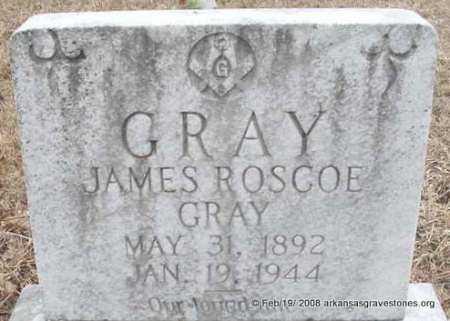 GRAY, JAMES ROSCOE - Scott County, Arkansas | JAMES ROSCOE GRAY - Arkansas Gravestone Photos