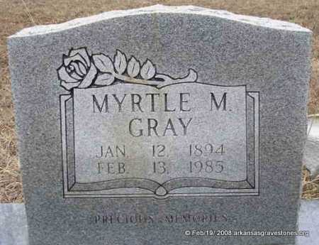 GRAY, MYRTLE M - Scott County, Arkansas | MYRTLE M GRAY - Arkansas Gravestone Photos