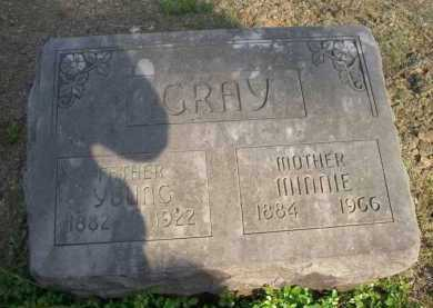 GRAY, MINNIE - Scott County, Arkansas | MINNIE GRAY - Arkansas Gravestone Photos