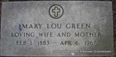 GREEN, MARY LOU - Scott County, Arkansas | MARY LOU GREEN - Arkansas Gravestone Photos
