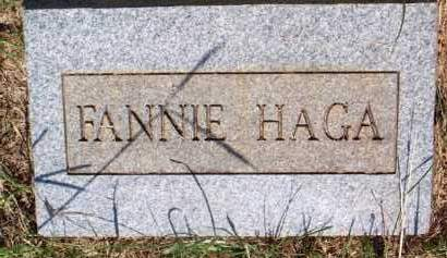 HAGA, FANNIE - Scott County, Arkansas | FANNIE HAGA - Arkansas Gravestone Photos