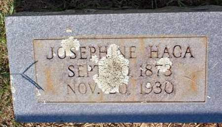 HAGA, JOSEPHINE - Scott County, Arkansas | JOSEPHINE HAGA - Arkansas Gravestone Photos