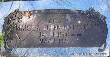 HAIRRELL, MARTHA ELLEN - Scott County, Arkansas | MARTHA ELLEN HAIRRELL - Arkansas Gravestone Photos