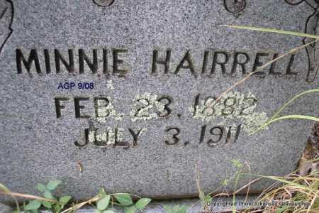 HAIRRELL, MINNIE - Scott County, Arkansas | MINNIE HAIRRELL - Arkansas Gravestone Photos