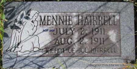 HAIRRELL, MENNIE - Scott County, Arkansas | MENNIE HAIRRELL - Arkansas Gravestone Photos