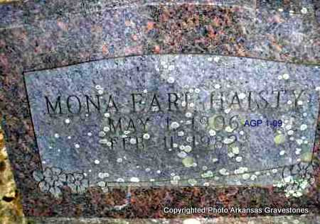 HAISTY, MONA - Scott County, Arkansas | MONA HAISTY - Arkansas Gravestone Photos