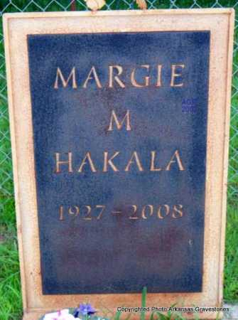 HAKALA, MARGIE M - Scott County, Arkansas | MARGIE M HAKALA - Arkansas Gravestone Photos