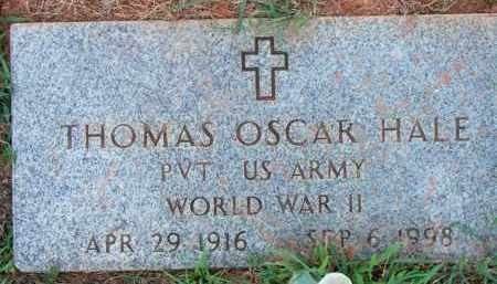 HALE  (VETERAN WWII), THOMAS OSCAR - Scott County, Arkansas | THOMAS OSCAR HALE  (VETERAN WWII) - Arkansas Gravestone Photos