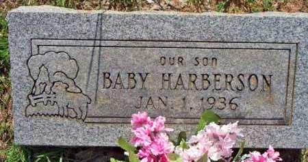 HARBERSON, BABY SON - Scott County, Arkansas | BABY SON HARBERSON - Arkansas Gravestone Photos