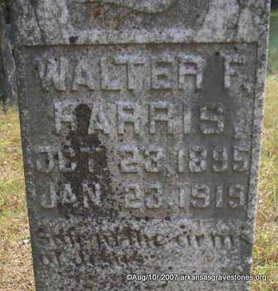 HARRIS, WALTER F - Scott County, Arkansas | WALTER F HARRIS - Arkansas Gravestone Photos