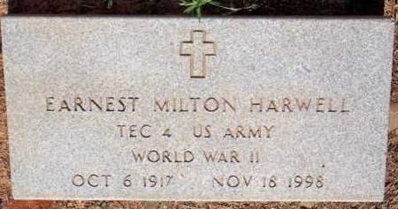 HARWELL  (VETERAN WWII), ERNEST MILTON - Scott County, Arkansas | ERNEST MILTON HARWELL  (VETERAN WWII) - Arkansas Gravestone Photos