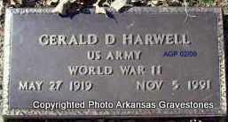 HARWELL (VETERAN WWII), GERALD D - Scott County, Arkansas | GERALD D HARWELL (VETERAN WWII) - Arkansas Gravestone Photos