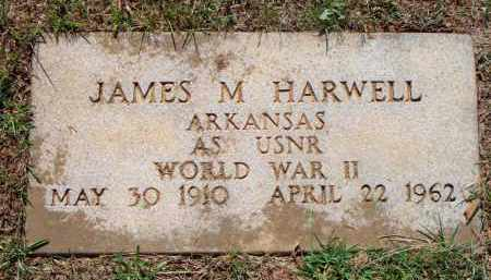 HARWELL  (VETERAN WWII), JAMES M - Scott County, Arkansas | JAMES M HARWELL  (VETERAN WWII) - Arkansas Gravestone Photos