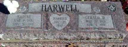 HARWELL, NADINE - Scott County, Arkansas | NADINE HARWELL - Arkansas Gravestone Photos