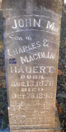 HAUERT, JOHN M - Scott County, Arkansas | JOHN M HAUERT - Arkansas Gravestone Photos