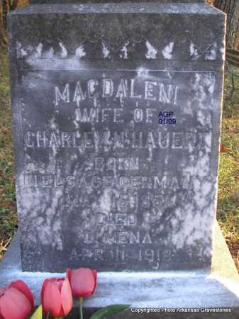 HAUERT, MAGDALENI  (CLOSEUP) - Scott County, Arkansas | MAGDALENI  (CLOSEUP) HAUERT - Arkansas Gravestone Photos