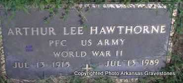 HAWTHORNE  (VETERAN WWII), ARTHUR LEE - Scott County, Arkansas | ARTHUR LEE HAWTHORNE  (VETERAN WWII) - Arkansas Gravestone Photos