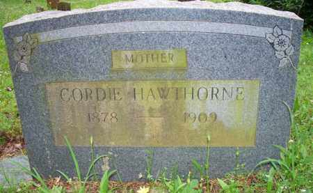 HAWTHORNE, CORDIE - Scott County, Arkansas | CORDIE HAWTHORNE - Arkansas Gravestone Photos
