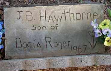 HAWTHORNE, J  B - Scott County, Arkansas   J  B HAWTHORNE - Arkansas Gravestone Photos