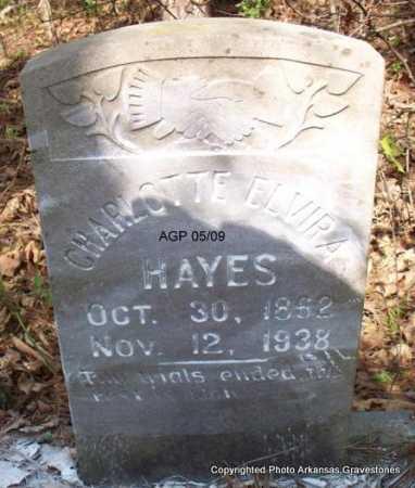 HAYES, CHARLOTTE ELVIRA - Scott County, Arkansas   CHARLOTTE ELVIRA HAYES - Arkansas Gravestone Photos