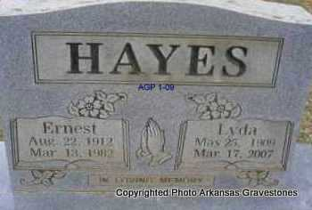 HAYES, ERNEST - Scott County, Arkansas | ERNEST HAYES - Arkansas Gravestone Photos
