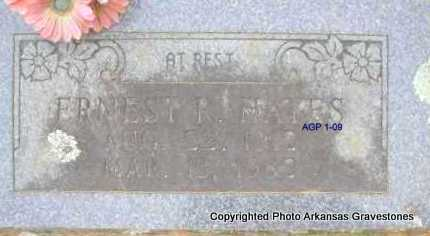 HAYES, ERNEST R   *2ND  STONE - Scott County, Arkansas | ERNEST R   *2ND  STONE HAYES - Arkansas Gravestone Photos