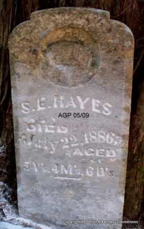 HAYES, S E - Scott County, Arkansas | S E HAYES - Arkansas Gravestone Photos