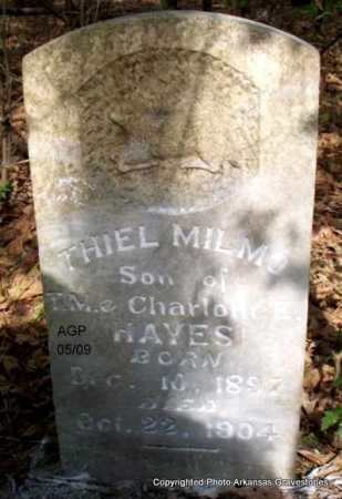 HAYES, THIEL MILMO - Scott County, Arkansas | THIEL MILMO HAYES - Arkansas Gravestone Photos