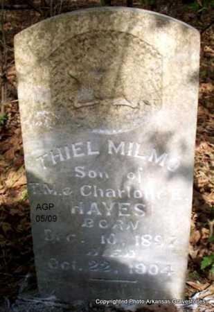 HAYES, THIEL MILMO - Scott County, Arkansas | THIEL MILMO HAYES - Arkansas Gravestone Photos