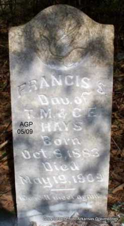 HAYS, FRANCIS S - Scott County, Arkansas | FRANCIS S HAYS - Arkansas Gravestone Photos