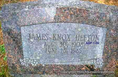 HEFTON, JAMES KNOX - Scott County, Arkansas | JAMES KNOX HEFTON - Arkansas Gravestone Photos