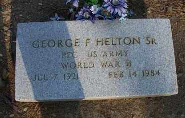 HELTON, SR  (VETERAN WWII), GEORGE F - Scott County, Arkansas | GEORGE F HELTON, SR  (VETERAN WWII) - Arkansas Gravestone Photos