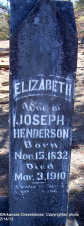 HENDERSON, ELIZABETH - Scott County, Arkansas | ELIZABETH HENDERSON - Arkansas Gravestone Photos
