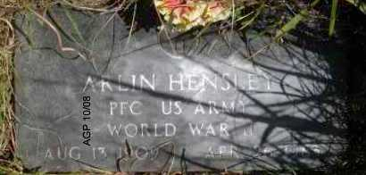 HENSLEY  (VETERAN WWII), ARLIN - Scott County, Arkansas | ARLIN HENSLEY  (VETERAN WWII) - Arkansas Gravestone Photos