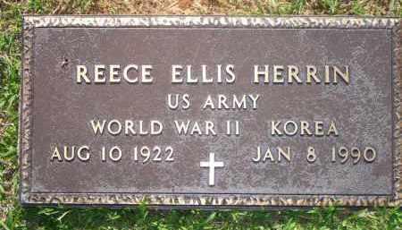 HERRIN  (VETERAN 2 WARS), REECE ELLIS - Scott County, Arkansas | REECE ELLIS HERRIN  (VETERAN 2 WARS) - Arkansas Gravestone Photos