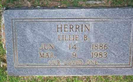 HERRIN, LILLIE B - Scott County, Arkansas | LILLIE B HERRIN - Arkansas Gravestone Photos
