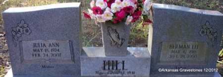 HILL, JULIA ANN - Scott County, Arkansas | JULIA ANN HILL - Arkansas Gravestone Photos