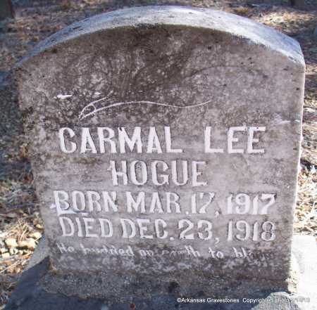 HOGUE, CARMEL LEE - Scott County, Arkansas | CARMEL LEE HOGUE - Arkansas Gravestone Photos