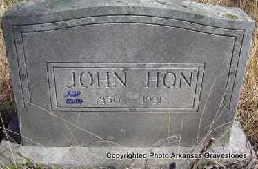 HON, JOHN - Scott County, Arkansas | JOHN HON - Arkansas Gravestone Photos