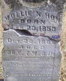 HON, MOLLIE N - Scott County, Arkansas | MOLLIE N HON - Arkansas Gravestone Photos