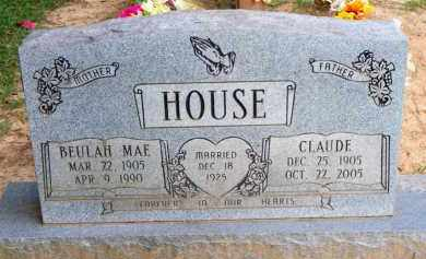 HOUSE, CLAUDE - Scott County, Arkansas | CLAUDE HOUSE - Arkansas Gravestone Photos