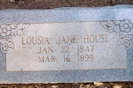 HOUSE, LOUISA JANE - Scott County, Arkansas | LOUISA JANE HOUSE - Arkansas Gravestone Photos