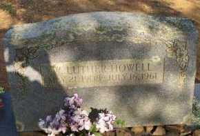 HOWELL, W  LUTHER - Scott County, Arkansas | W  LUTHER HOWELL - Arkansas Gravestone Photos