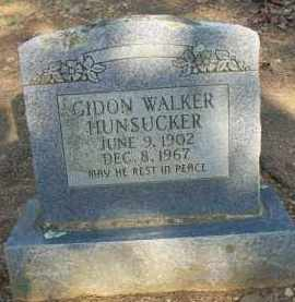 HUNSUCKER, GIDON WALKER - Scott County, Arkansas | GIDON WALKER HUNSUCKER - Arkansas Gravestone Photos