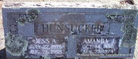 HUNSUCKER, JESS A - Scott County, Arkansas | JESS A HUNSUCKER - Arkansas Gravestone Photos