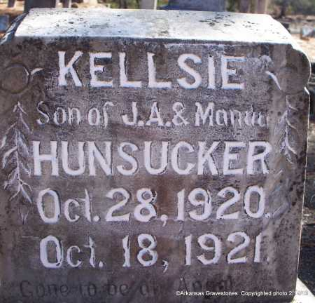 HUNSUCKER, KELLSIE - Scott County, Arkansas | KELLSIE HUNSUCKER - Arkansas Gravestone Photos