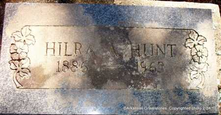 HUNT, HILRA A - Scott County, Arkansas | HILRA A HUNT - Arkansas Gravestone Photos