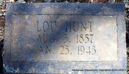 HUNT, LOU - Scott County, Arkansas | LOU HUNT - Arkansas Gravestone Photos