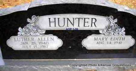 HUNTER, LUTHER ALLEN - Scott County, Arkansas | LUTHER ALLEN HUNTER - Arkansas Gravestone Photos