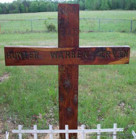 IRVIN, HUNTER WARREN - Scott County, Arkansas   HUNTER WARREN IRVIN - Arkansas Gravestone Photos